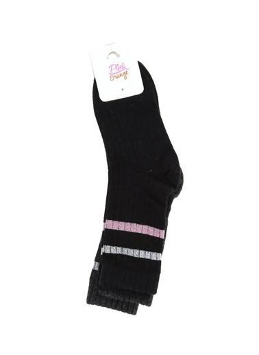 Pink&Orange Çorap Siyah